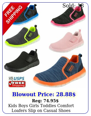 kids boys girls toddles comfort loafers slip on casual shoes running shoe