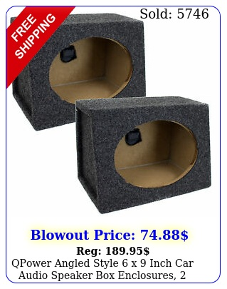 qpower angled style x inch car audio speaker enclosures speaker boxe