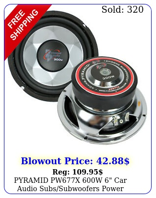 pyramid pwx w car audio subssubwoofers power woofer