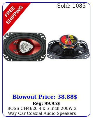 boss ch x inch w way car coaxial audio speakers stereo red pai