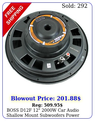 boss df w car audio shallow mount subwoofers power subs woofer