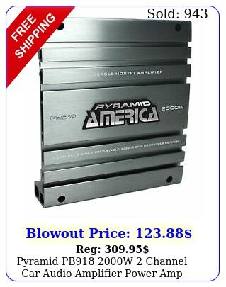 pyramid pb w channel car audio amplifier power amp bridgeable mosfe