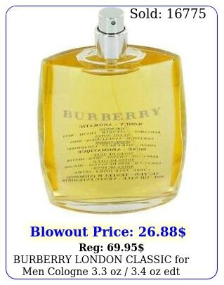 burberry london classic men cologne oz  oz edt teste
