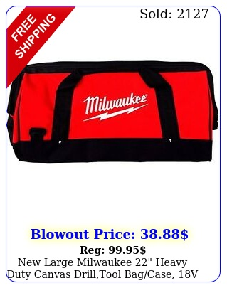 large milwaukee heavy duty canvas drilltool bagcase v  vol