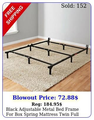 black adjustable metal bed frame spring mattress twin full queen siz