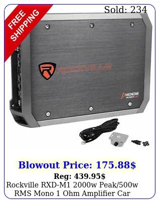 rockville rxdm w peakw rms mono ohm amplifier car audio am