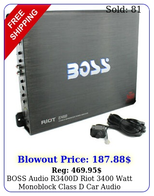 boss audio rd riot watt monoblock class d car audio amplifier  remot