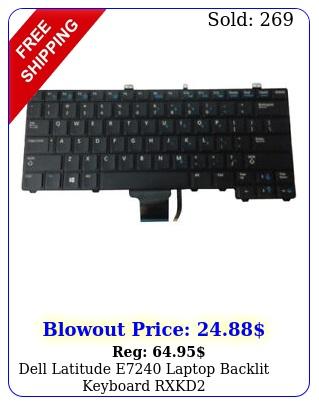 dell latitude e laptop backlit keyboard rxk