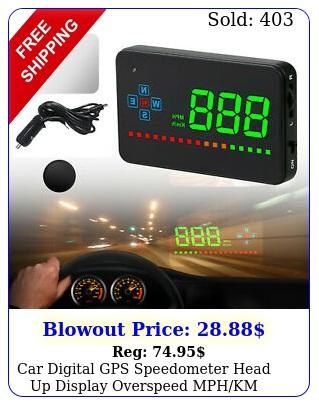car digital gps speedometer head up display overspeed mphkm tired warning alar