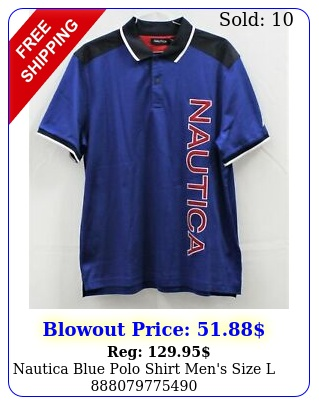 nautica blue polo shirt men's size