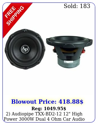 audiopipe txxbd high power w dual ohm car audio subwoofer