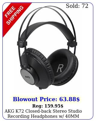 akg k closedback stereo studio recording headphones w mm driver