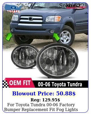 toyota tundra factory bumper replacement fit fog lights clear len
