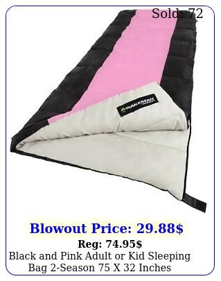 black pink adult or kid sleeping bag season x inches camping fu