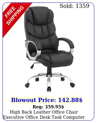 high back leather office chair executive office desk task computer chai