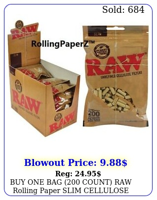 buy one bag count raw rolling paper slim cellulose cigarette filter