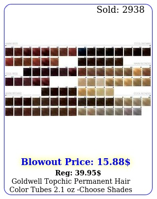 goldwell topchic permanent hair color tubes oz choose shade
