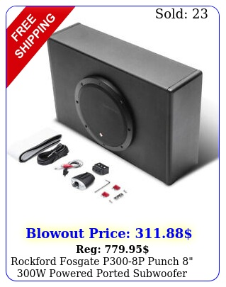 rockford fosgate pp punch w powered ported subwoofer enclosure syste