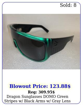dragon sunglasses domo green stripes w black arms w gray lens limited editio
