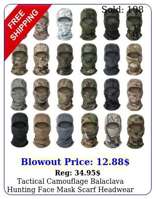 tactical camouflage balaclava hunting face mask scarf headwear bandana scarve