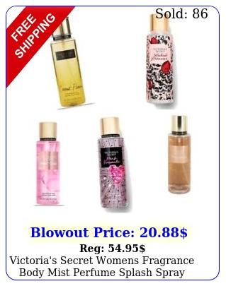 victoria's secret womens fragrance body mist perfume splash spray ml o