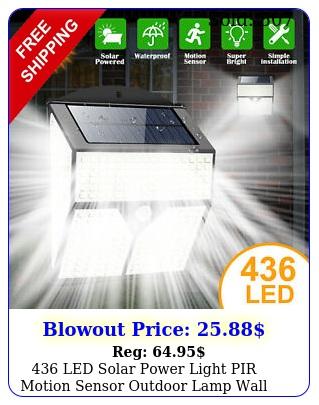 led solar power light pir motion sensor outdoor lamp wall waterproof garde