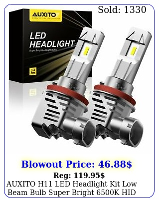 auxito h led headlight kit low beam bulb super bright k hid white l