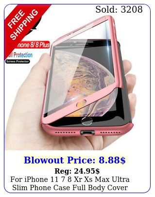iphone  xr xs max ultra slim phone case full body cover tempered glas
