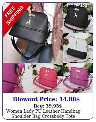 women lady pu leather handbag shoulder bag crossbody tote messenger satchel gif