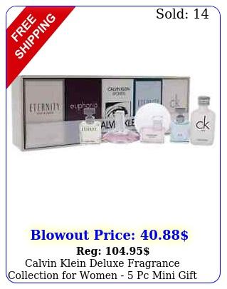 calvin klein deluxe fragrance collection women  pc mini gift se