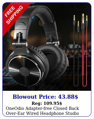 oneodio adapterfree closed back overear wired headphone studio pro blac
