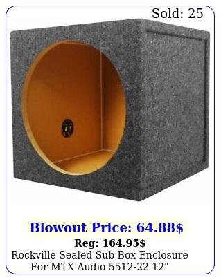rockville sealed sub enclosure mtx audio  subwoofe