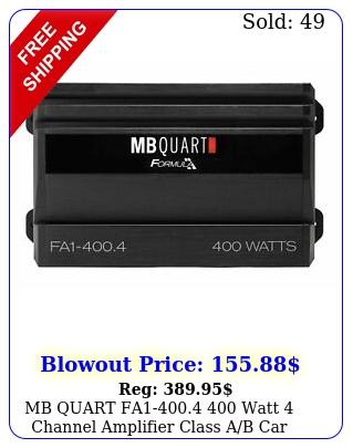 mb quart fa watt channel amplifier class ab car audio am