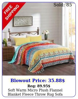 soft warm micro plush flannel blanket fleece throw rug sofa couch cover beddin
