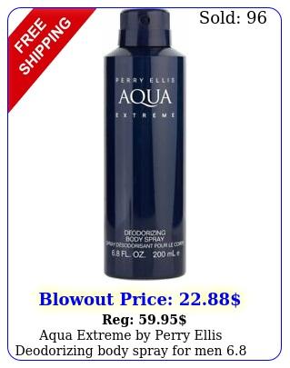 aqua extreme by perry ellis deodorizing body spray men o