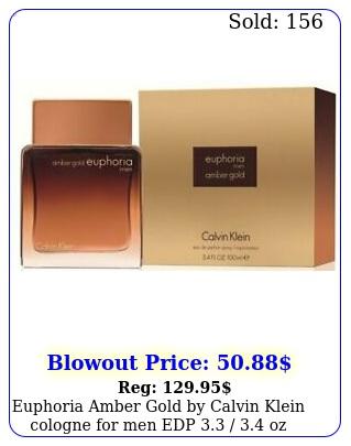 euphoria amber gold by calvin klein cologne men edp  oz in bo