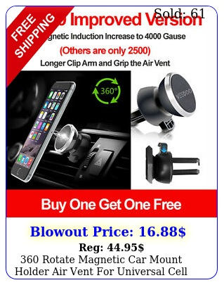 rotate magnetic car mount holder air vent universal cell phone upgrade