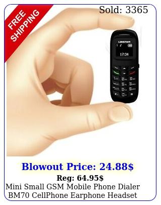 mini small gsm mobile phone dialer bm cellphone earphone headse