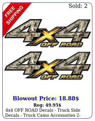 x off road decals truck side decals truck camo accessories pack  ao