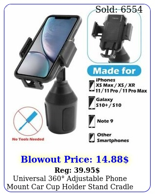 universal adjustable phone mount car cup holder stand cradle cell phon