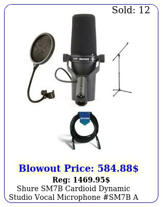 shure smb cardioid dynamic studio vocal microphone smb