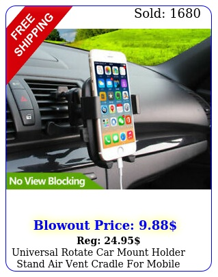 universal rotate car mount holder stand air vent cradle mobile cell phon