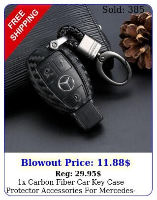 x carbon fiber car key case protector accessories mercedesbenz us shippin