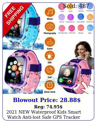 waterproof kids smart watch antilost safe gps tracker sos call