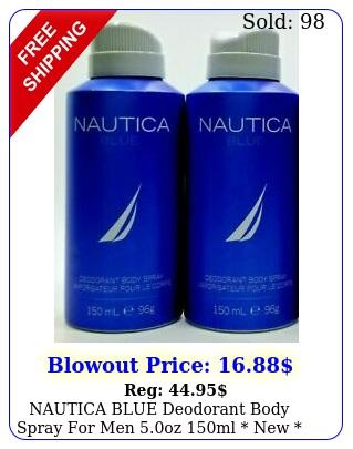 nautica blue deodorant body spray men oz ml