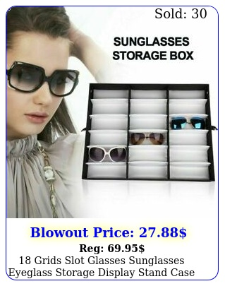 grids slot glasses sunglasses eyeglass storage display stand case holde