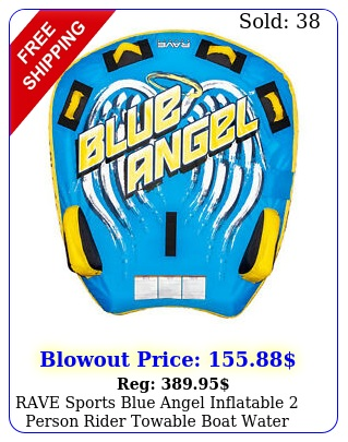 rave sports blue angel inflatable person rider towable boat water tube raf