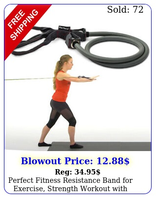 perfect fitness resistance band exercise strength workout with loop handle