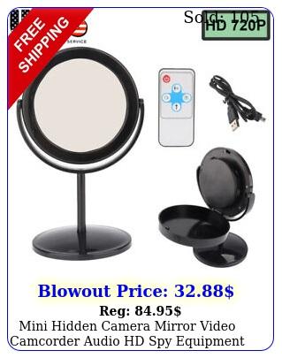 mini hidden camera mirror video camcorder audio hd spy equipment blac
