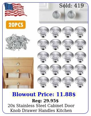 x stainless steel cabinet door knob drawer handles kitchen cupboard round pul